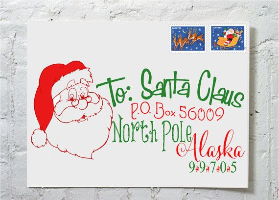 Send your little oneu0027s Christmas list off in style with our NEW - new letter envelope address format canada