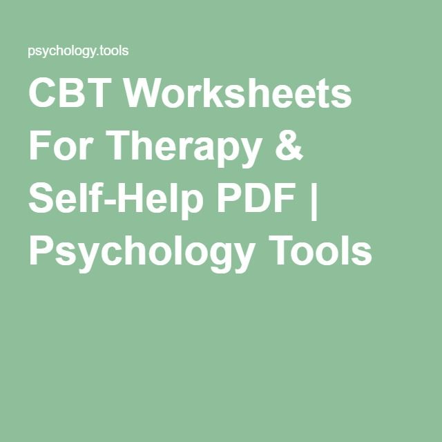 Psychology Tools ____ CBT Worksheets For Therapy & Self-Help PDF ...