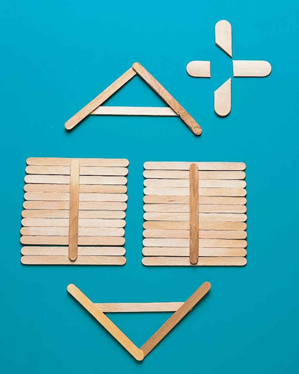 Popsicle stick church craft - Made By Gluing Together Popsicle Sticks This Post Ice Pop House Is The
