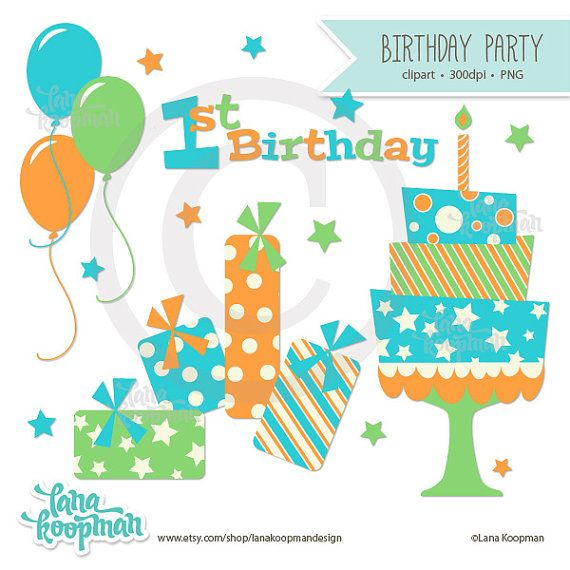 1st Birthday Party Clipart
