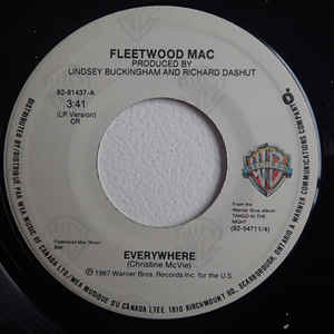 Fleetwood Mac Everywhere 7 For Sale Discogs Fleetwood Mac Fleetwood Records For Sale