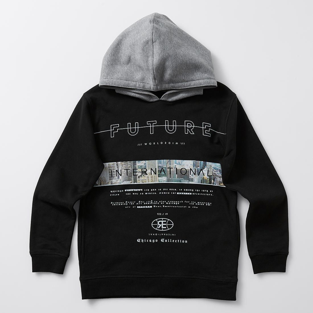3D Printed Hoodie Sweatshirts,Cityscape with Several,Hoodie Casual Pocket Sweatshirt