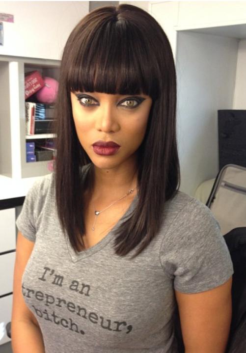 bri-banks:  brklynbreed:  Her shirt tho  YES MAMA TYRA