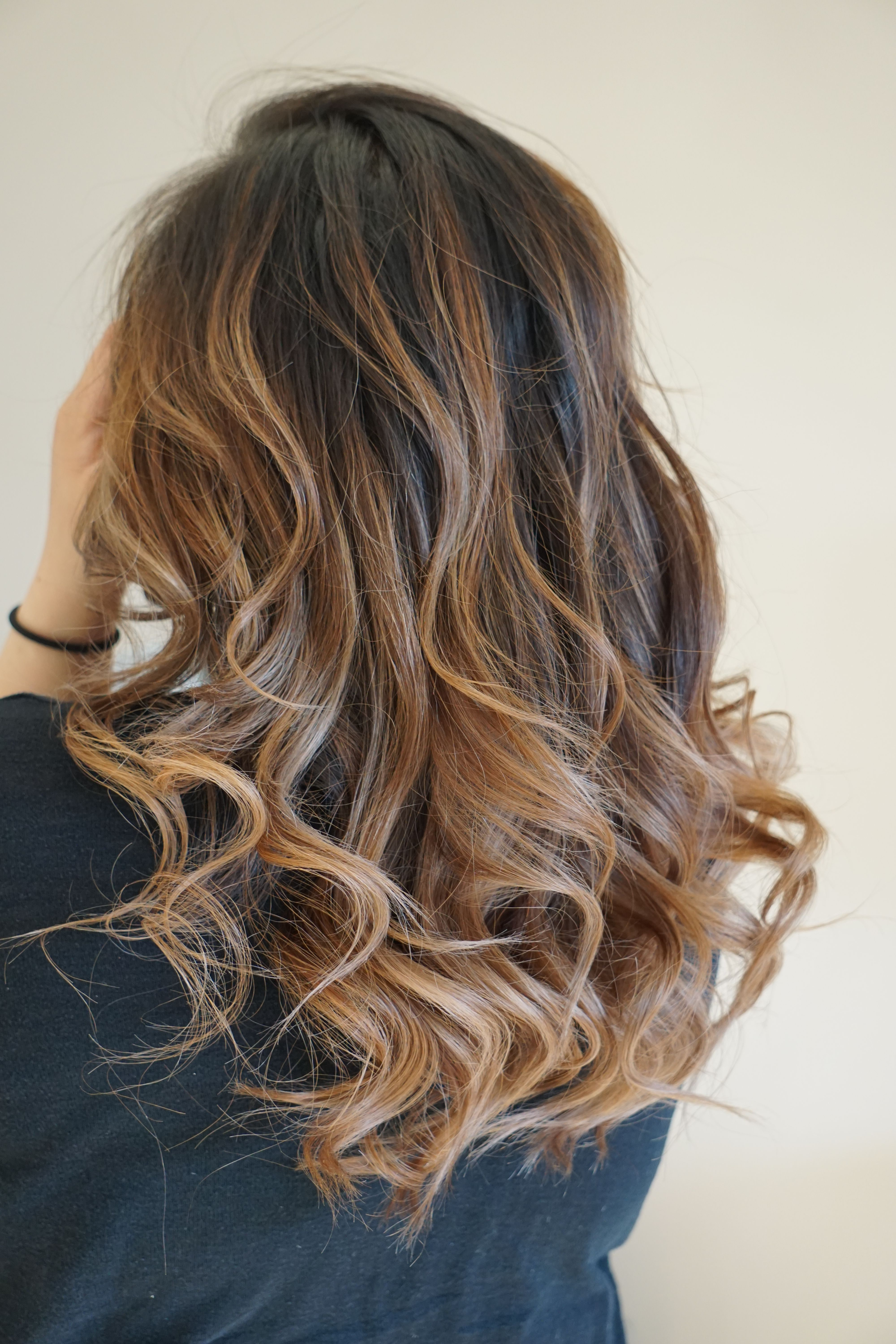Caramel Ombre Balayage Style On Asian Hair By Mai Style Beauty