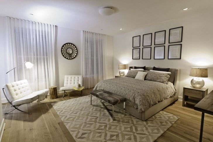 Beautiful Modern Bedroom Design Plain Area Rugs