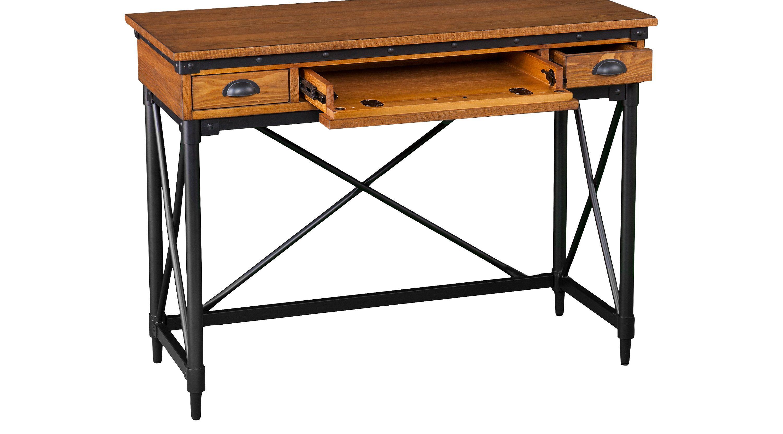Desks - Rooms To Go - Lamphere Antique Oak Desk - 44  Oak