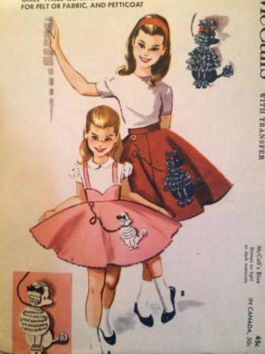2251 McCall 039 S Vintage 50 Poodle Skirt PatternSkirt