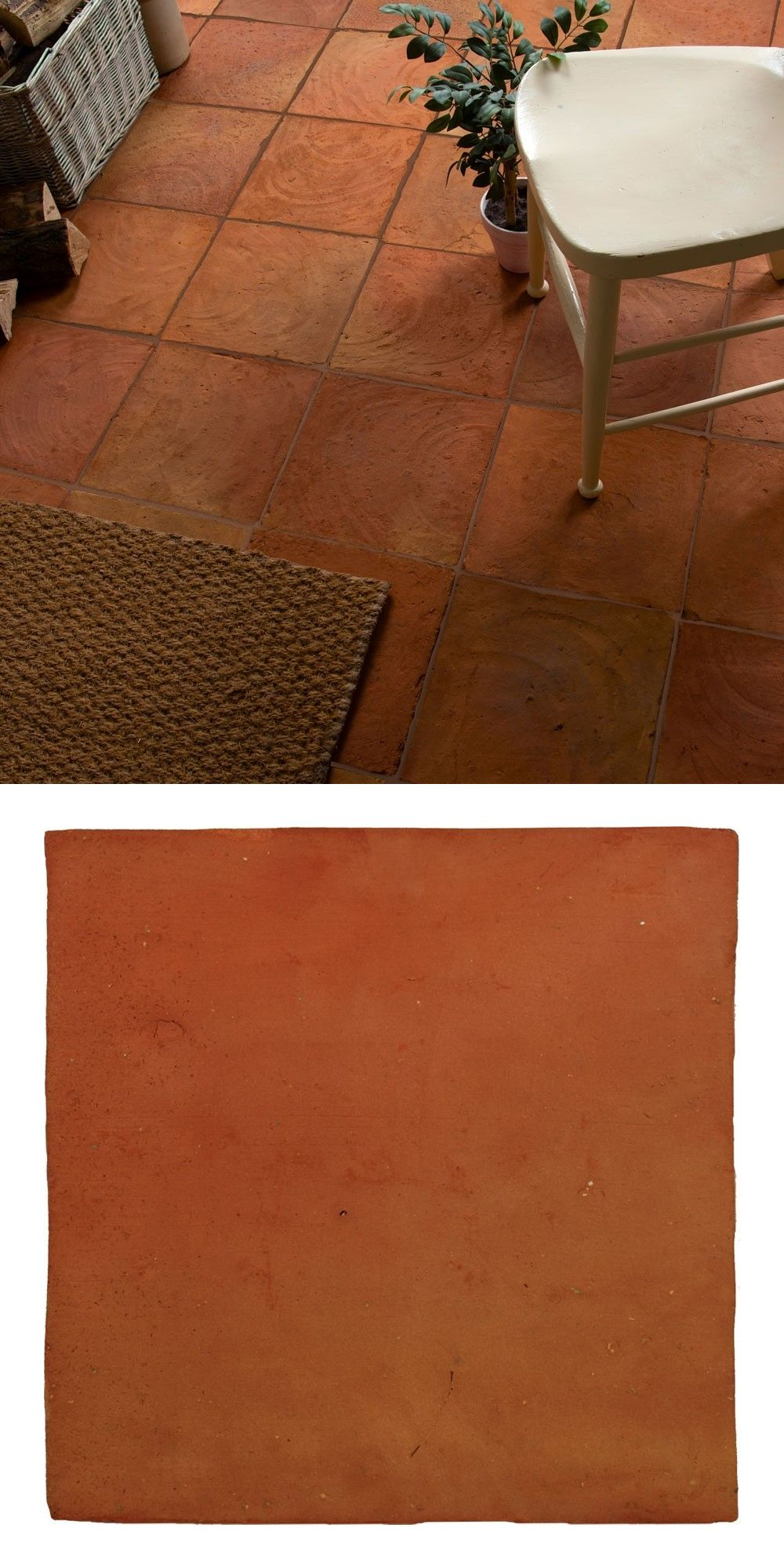 A Handmade Terracotta Red Clay Tile With A Heavily Textured Aged Appearance The Natural Terracotta Terradine Tile Terracotta Tiles Natural Flooring Clay Tiles