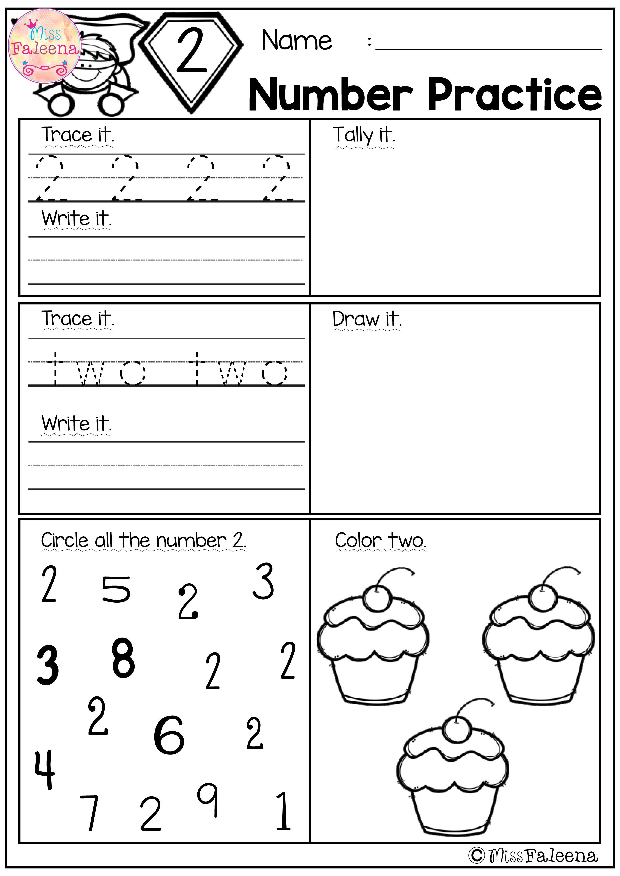 There Are 20 Pages 1 20 Number Practice Worksheets In This Product Also Included 2 Kindergarten Math Lesson Plans Math Activities Preschool Kindergarten Math