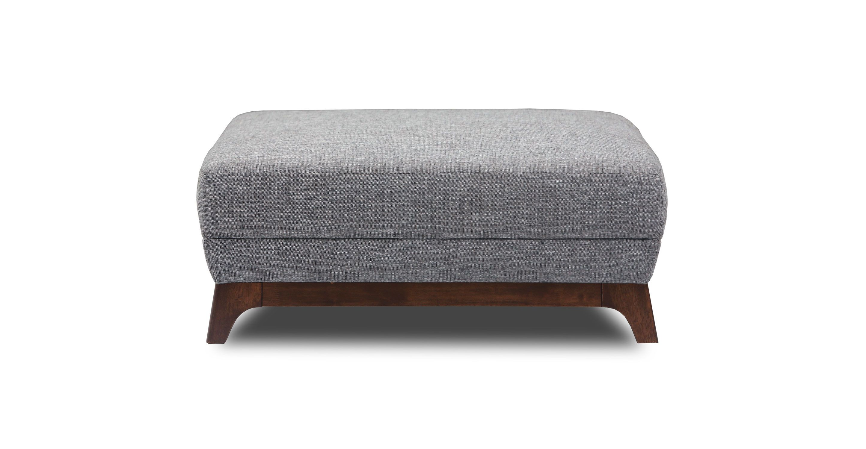 gray ottoman with solid wood legs  article ceni modern furniture  - gray ottoman with solid wood legs  article ceni modern furniture