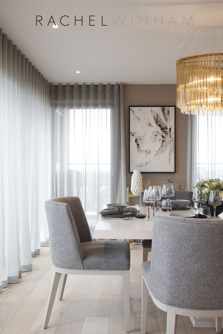 image result for drapery for windows in corner dining room - Modern Curtains For Living Room Pictures