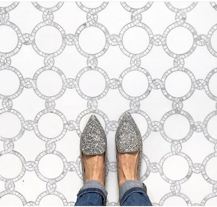 Not sure if I like the shoes or the floor better!