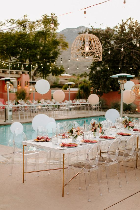 This Luxe Pink Desert Wedding Was One Of The First At New Palm Spri Palm Springs Wedding Venues Wedding Southern California Southern California Wedding Venues