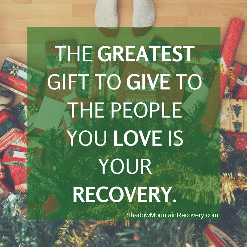 What better #gift to give your loved ones than the gift of #recovery? Let us help you keep that promise. Call (866) 787-6699 today. ○○○ #Addiction #AddictionRecovery #ShadowMountainRecovery #rehabilitation #detoxification #detox #rehab #Aspen #Cascade #ColoradoSprings #Denver #Colorado #Albuquerque #Taos #NewMexico #StGeorge #Utah #RecoveryIsPossible #RecoveryIsWorthIt #WeDoRecover #12Steps #12Step #Sober #Sobriety #Present #Gifts #GiftIdea #ChristmasGift #Christmas #Holidays