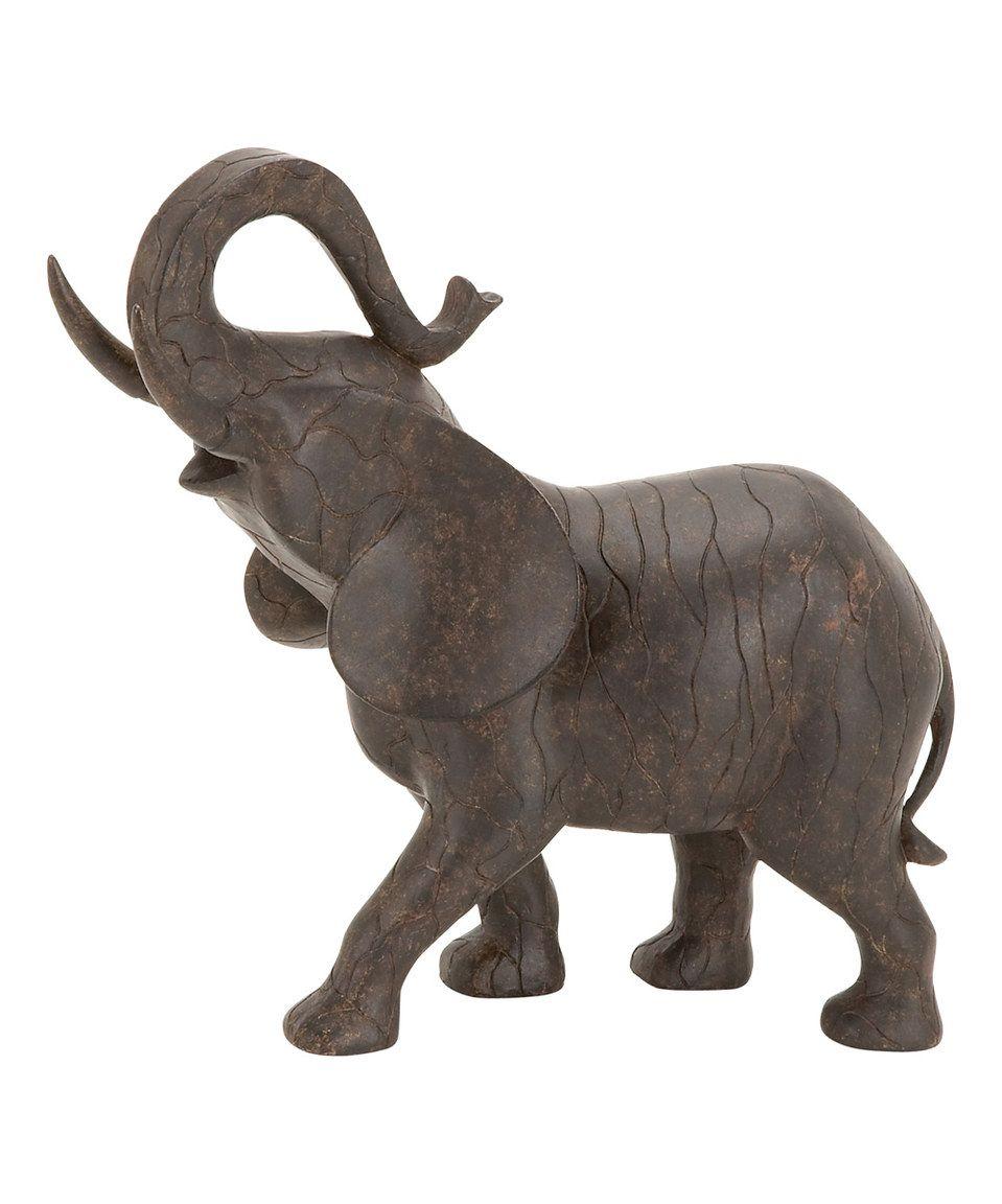 Look what I found on #zulily! 10'' Polystone Elephant Figurine by UMA Enterprises #zulilyfinds