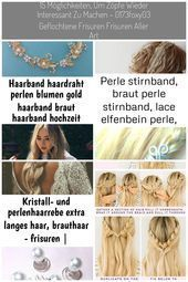 Haarband Haardraht Perlen Blumen Gold Haarband Braut Haarband Hochzeit Braut Ha …