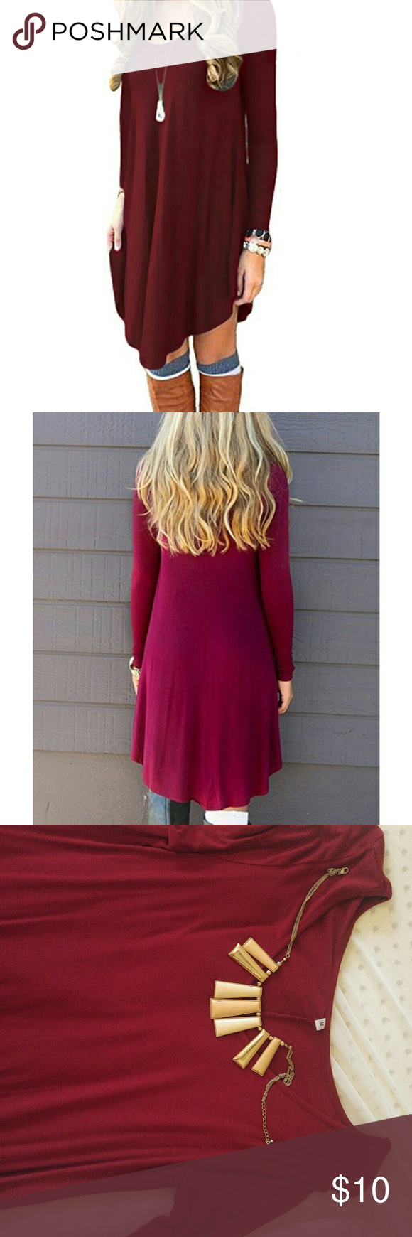 Medium sized wine colored dress wine colored dresses medium long