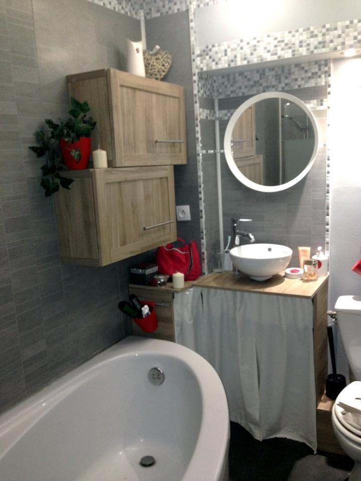 Salle de bain pas cher lambris pvc vasque baignoire - Salle de bain originale et pas chere ...