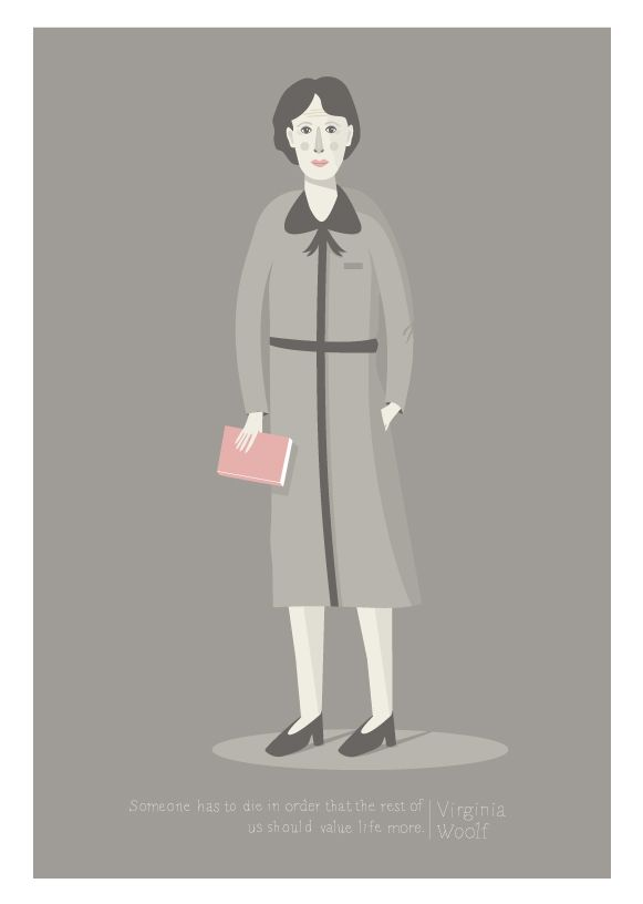 Virginia Woolf by Judy Kaufmann.