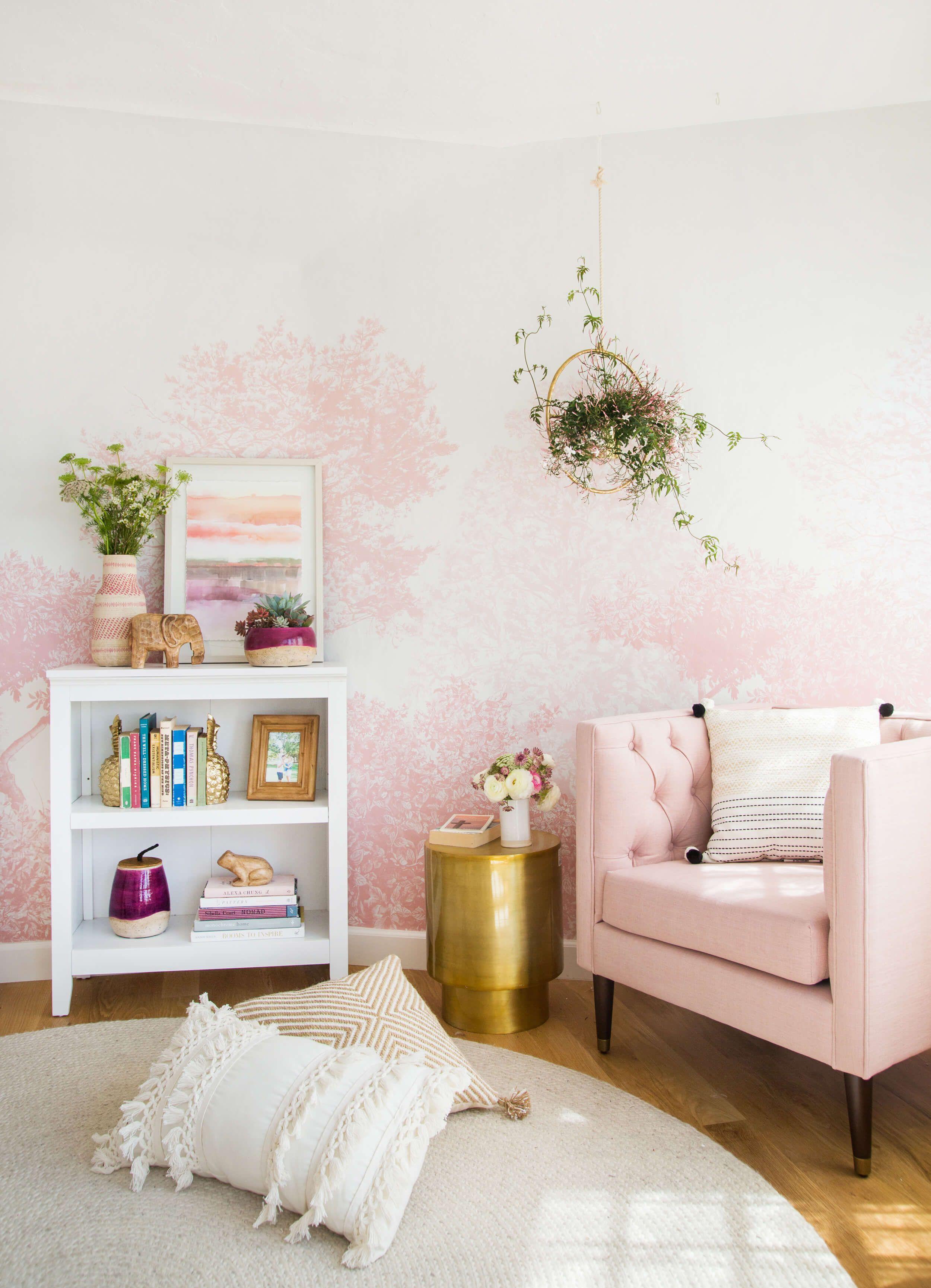 Target Living Room Furniture: How Splurge-worthy Wallpaper Or Tile Can Make A Room
