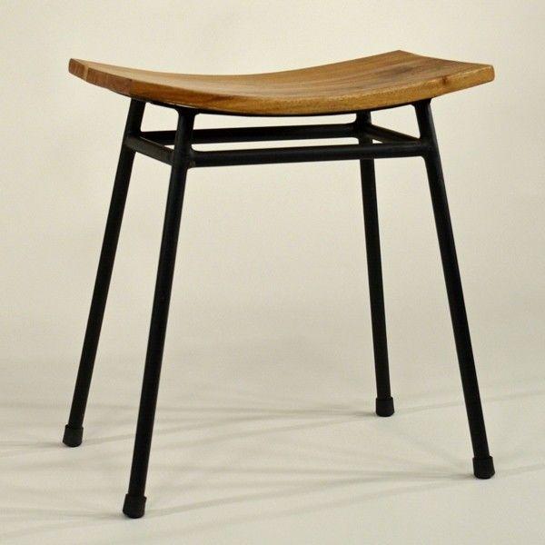 hocker kyoto fabrik industrial style japanese stool 39 kyoto 39 metal and wood hocker stools. Black Bedroom Furniture Sets. Home Design Ideas