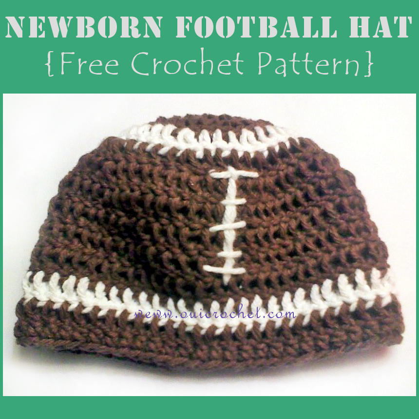 Newborn Football Hat {Free Crochet Pattern} | beanies | Pinterest ...