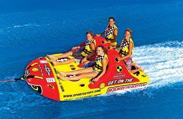 Sportsstuff Bandwagon 2 2 Towable Ski Tube 4 Person By Sportsstuff Http Www Amazon Com Dp B004y1os9u Ref Cm Sw R Pi Dp W1w7pb0 Lake Rafts Lake Fun Lake Toys