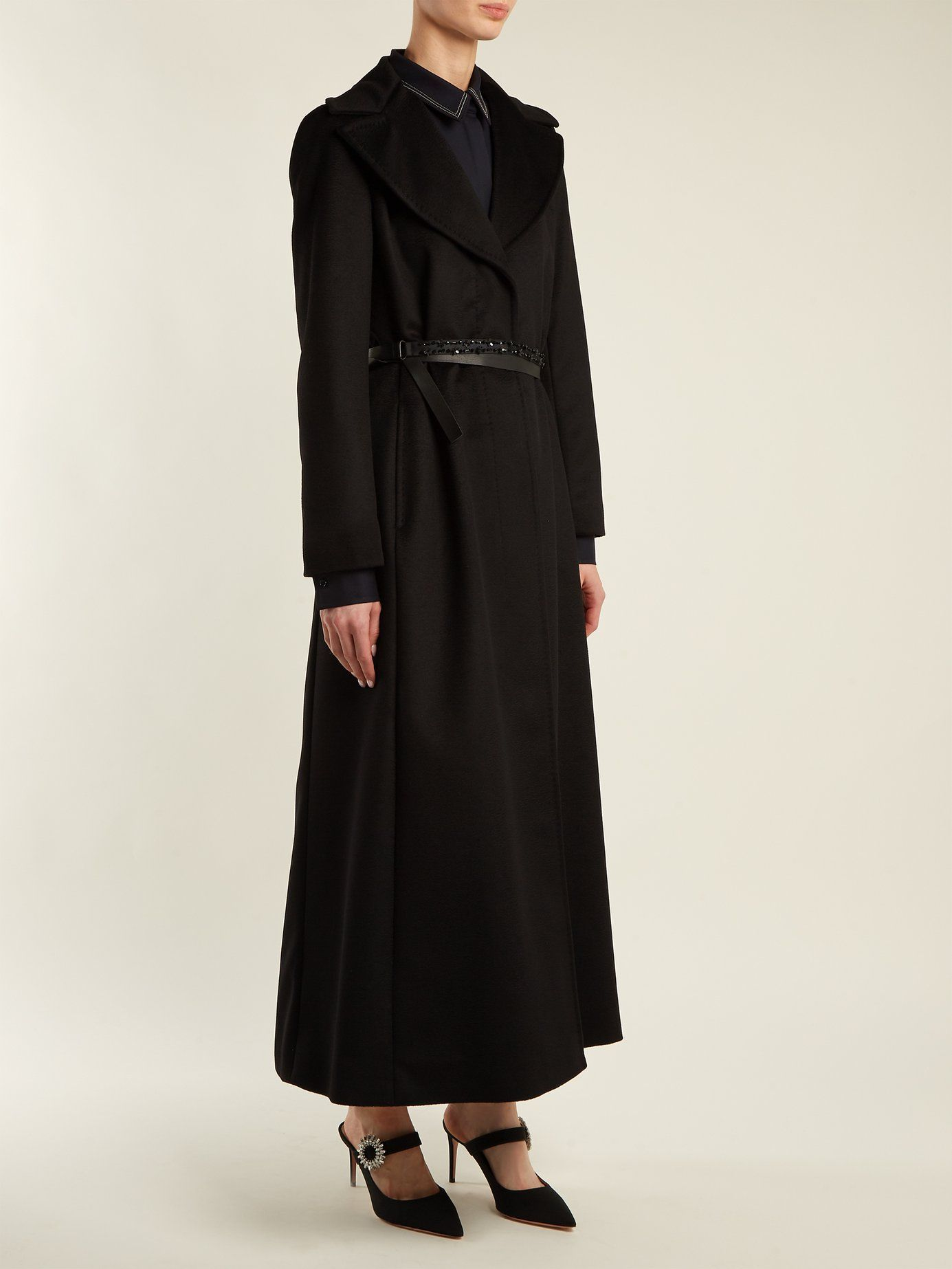 4454066a028 Single-breasted wool coat