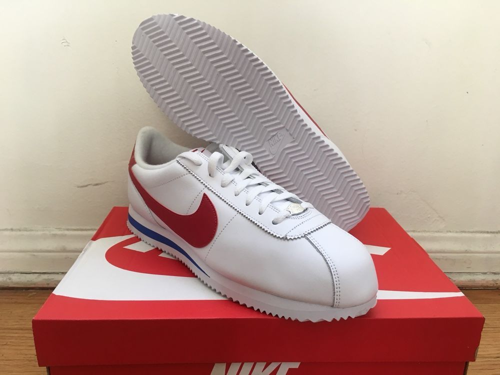on feet shots of best selling wholesale price NIKE CORTEZ 72 SZ 11 BASIC LEATHER FORREST GUMP OG WHITE RED ...