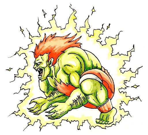 Blankaelectricthunder Png 200 182 Pixels Street Fighter Art Street Fighter Characters Fighter Tattoo