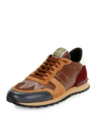 Stella McCartney Red Valentino Garavani Camo Rockrunner Sneakers XgWyavxUr