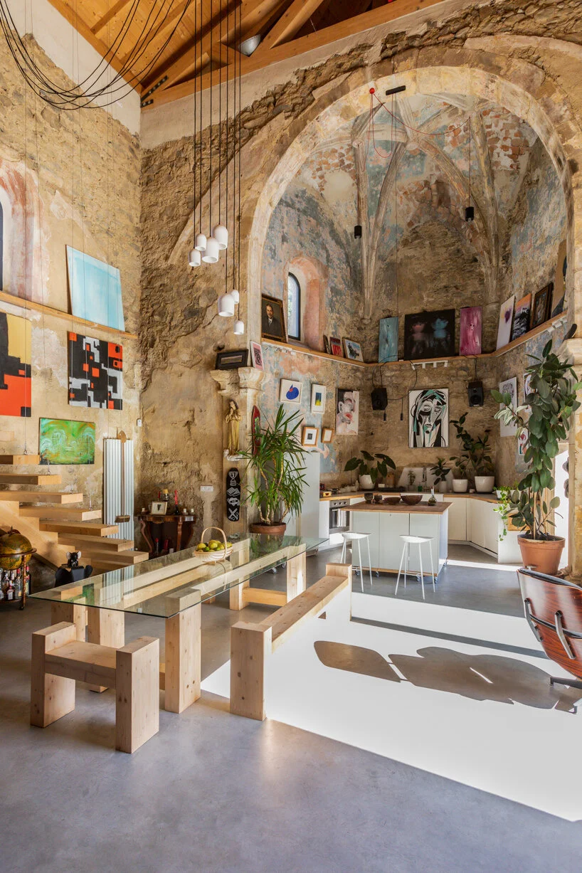 the church of tas sees the careful renovation of an abandoned renaissance church in spain