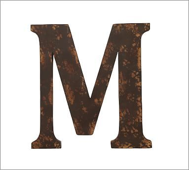 Rustic Metal Letters #potterybarn