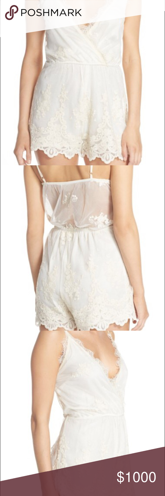 407ad8b0edd6 ISO Band of Gypsies Ivory Romper In search of Mesh Embroidered Romper in  the color Ivory