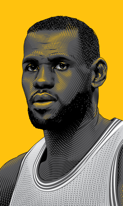 Espn Kobe Bryant On Behance Lebron James Lakers Basketball Players Lebron James