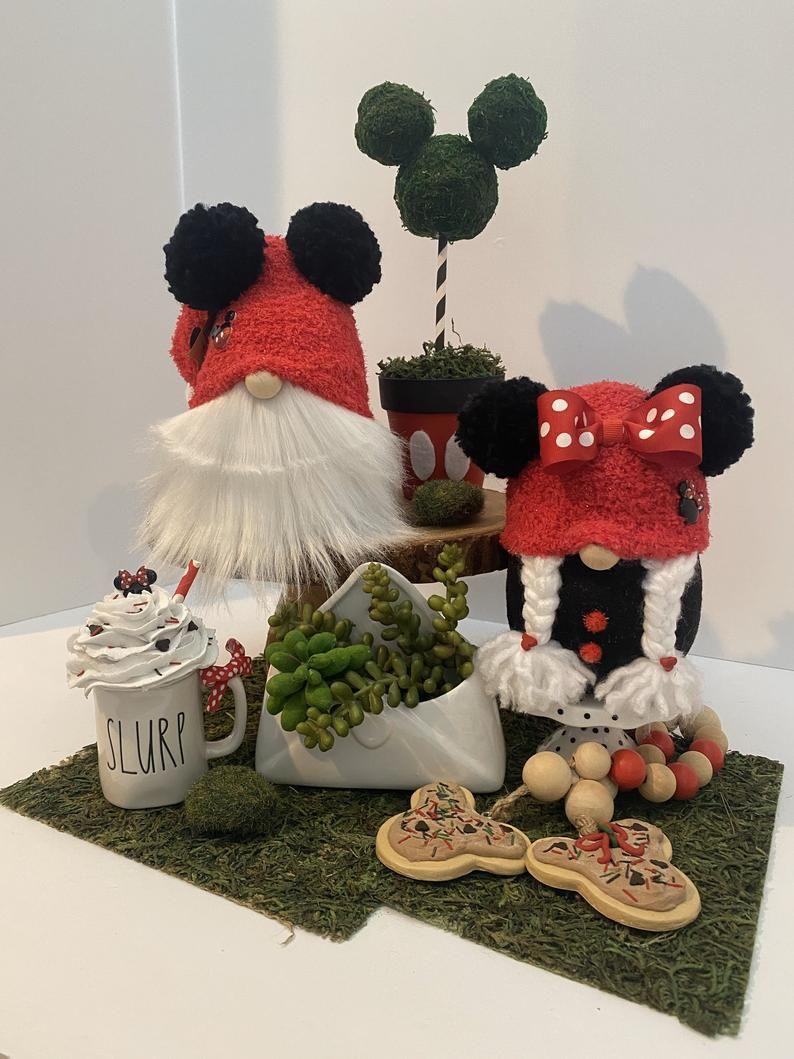 Mickey  Mouse Disney Spring Rae Dunn Inspired Tomte Nisse Starbucks Gnome