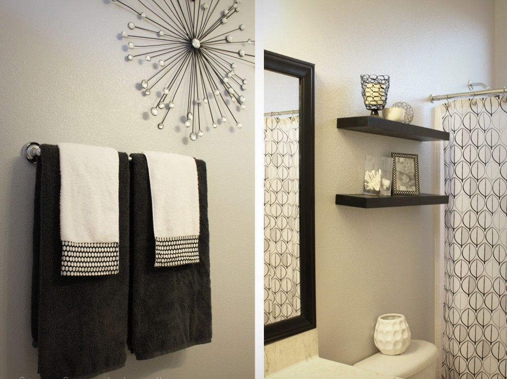 Bathroom Twin Towel Hanging To Be Part Of A Simple Restroom Decoration But Elegant With Two