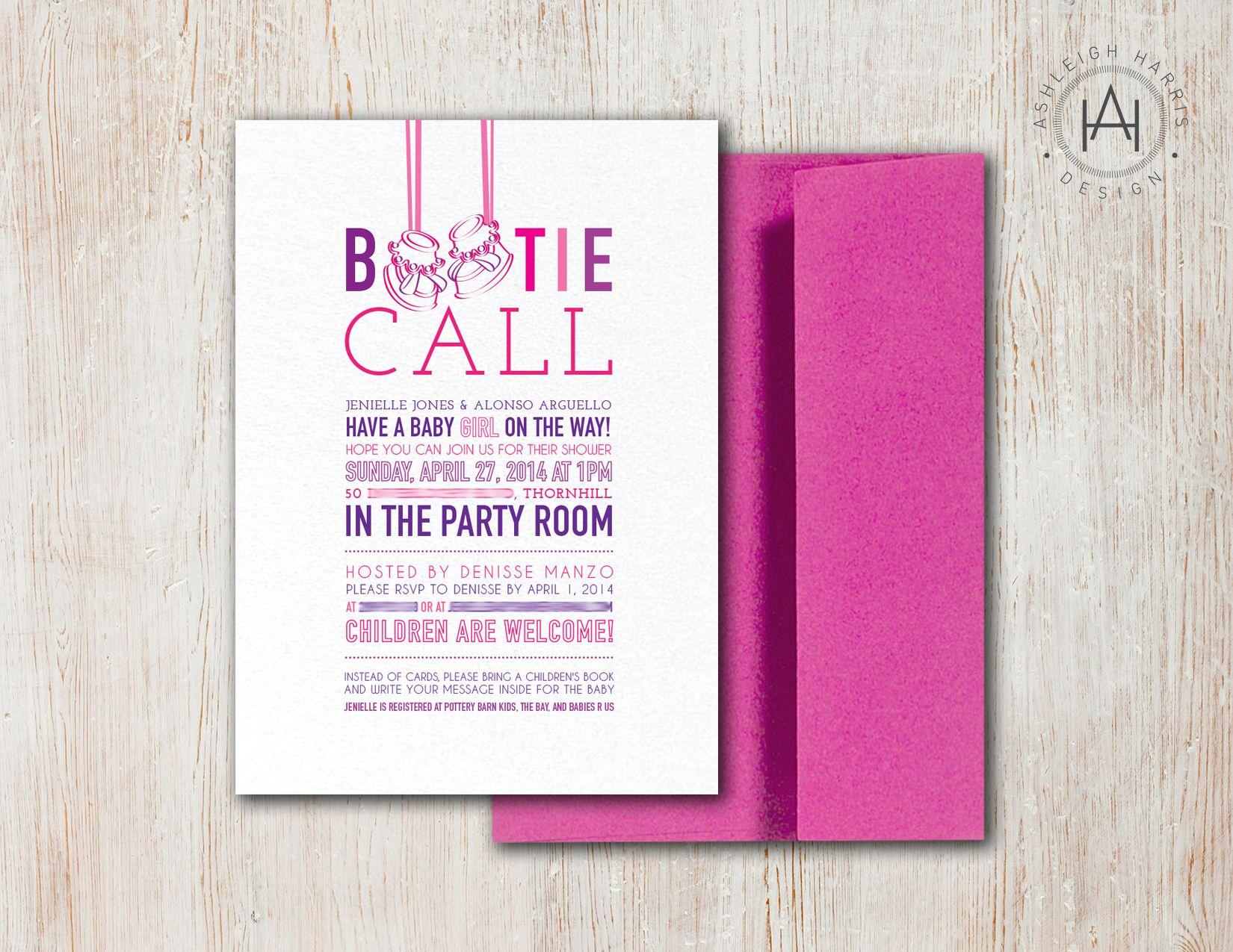 Custom baby shower invites, printed on white sparkle paper. Please ...