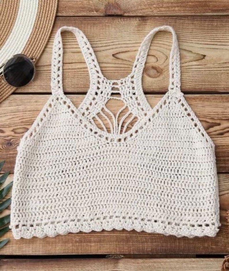 Crochet Crop Top ,Festival Top, Beachwear , Festival Clothing .