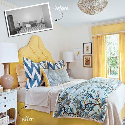 10 Best Before U0026 Afters. Blue Yellow BedroomsChevron ...