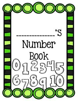Numbers 0-10 - Number Books This product is a set of the 'Numbers Books' for numbers 0-10.