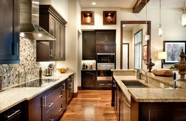 Espresso Cabinets Kitchen Design Ideas, Pictures, Remodel and Decor  Espresso Cabinets Kitche... #espressoathome