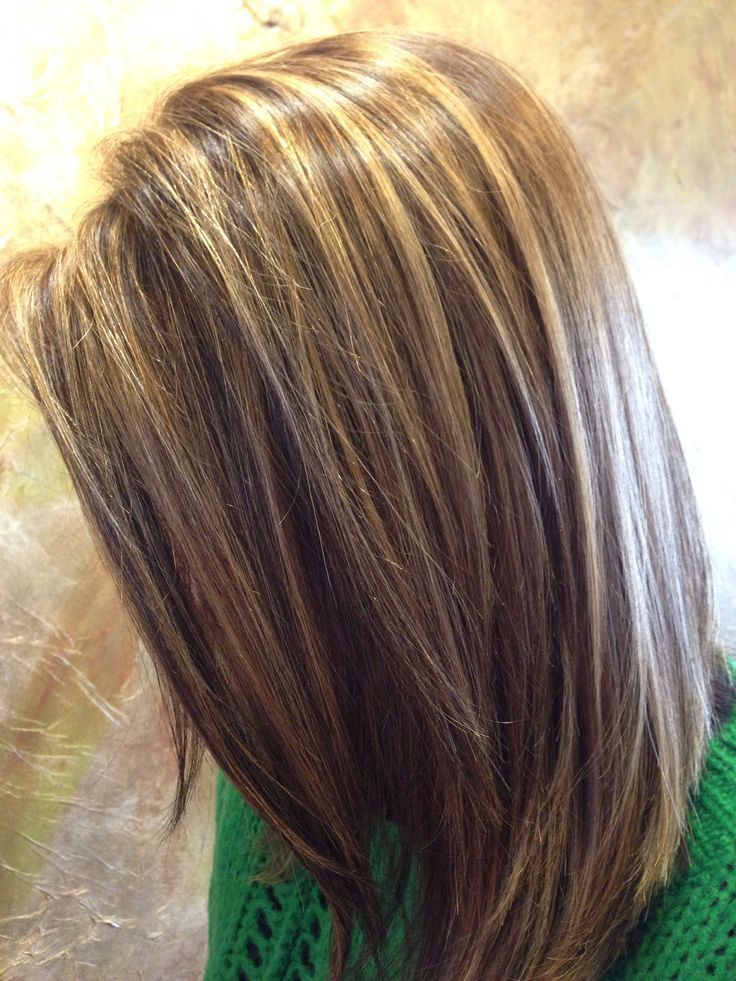 Brown Hair Highlights Lowlights Hair Pinterest
