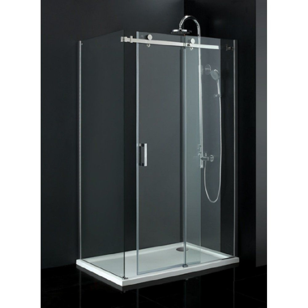 Small Frameless Sliding Glass Shower Doors | bath | Pinterest ...