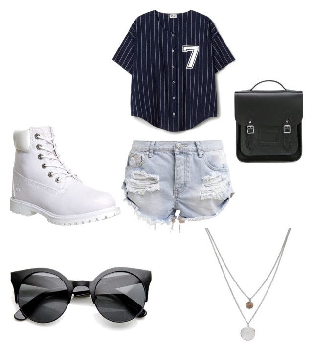 """""""Sporty"""" by biancamaghloubi on Polyvore featuring Timberland, OneTeaspoon, Kenneth Cole and The Cambridge Satchel Company"""