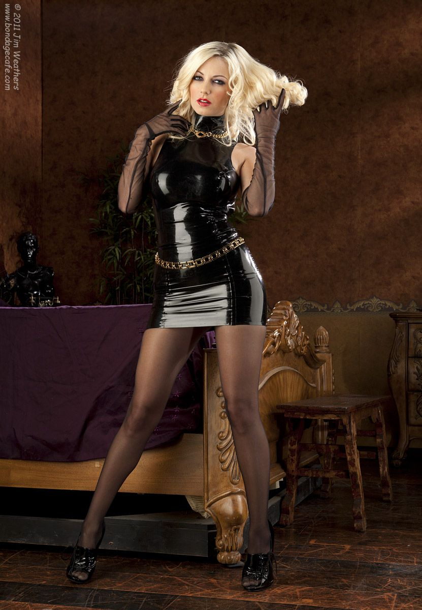 Women in latex and pantyhose