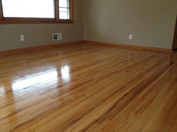 Red Oak Hardwood Floors In Saint Louis Park After They Have Been