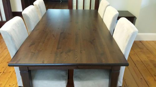 Ikea Markor Dining Table Dark Brown 6 Seater Good Condition