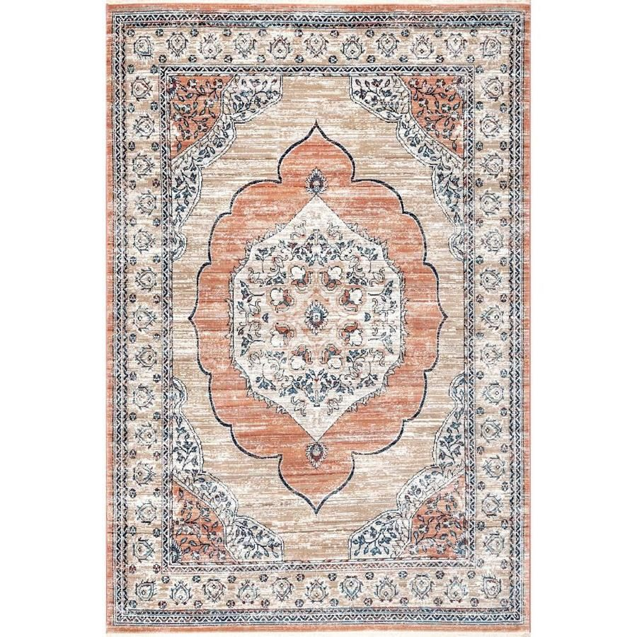 Nuloom Beige Indoor Vintage Area Rug Common 8 X 10 Actual 8 Ft W X 10 Ft L Kksl01a 8010 In 2020 Colorful Rugs Area Rugs Rugs
