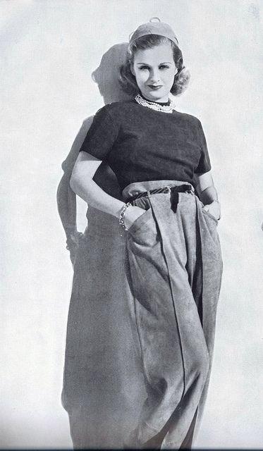 Joan Bennett vintage fashion style color photo print ad model magazine 40s                                                                                                                                                                                 More
